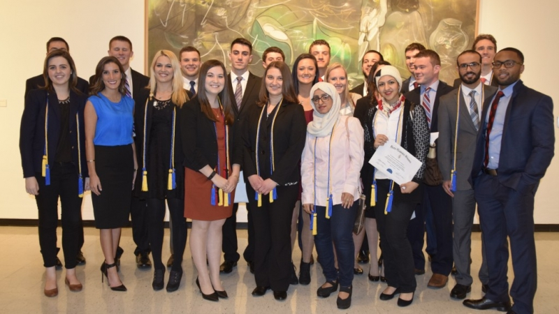 NU Business Students Inducted Into Three Honor Societies
