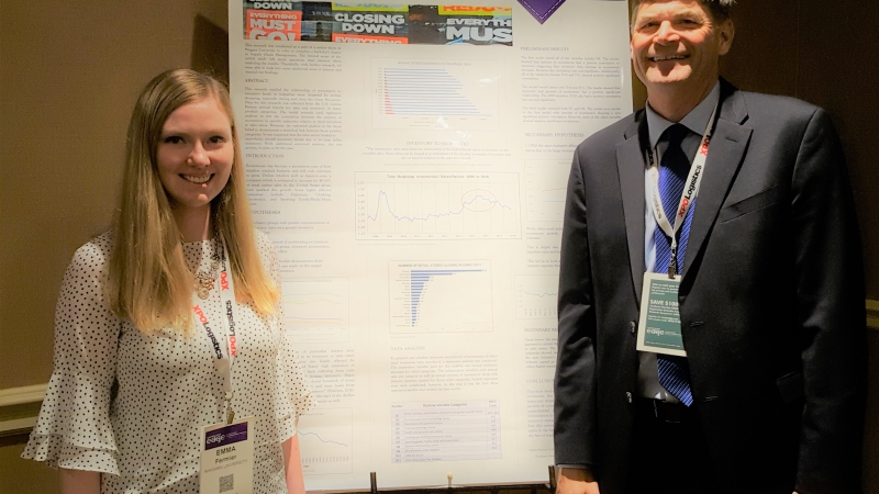 Niagara University MBA Student Emma Fermier and Dr. Jim Kling Presented at CSCMP Conference in Nashville