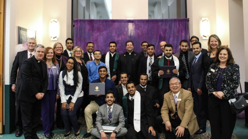 SACM Leaders Celebrate Semester's End With NU's Saudi Student Association