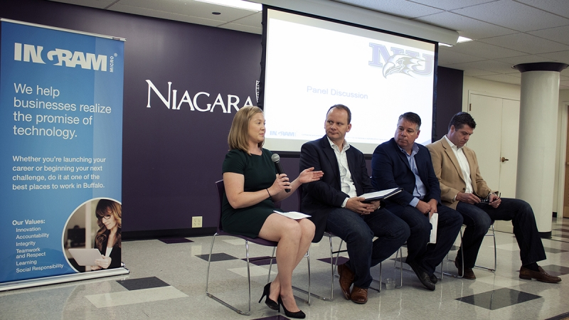 Ingram Micro Executives Offer Career Advice to Niagara University Students