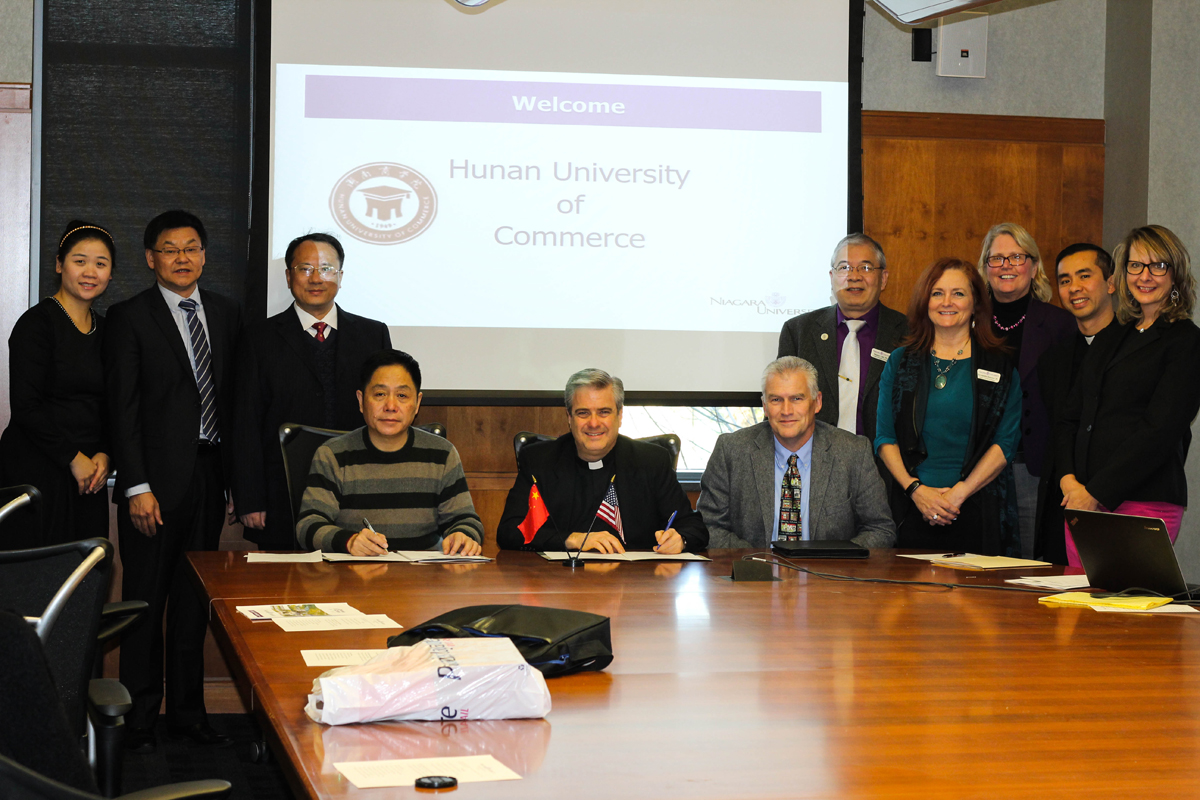 Niagara University Formalizes Partnership With China's Hunan University Of Commerce